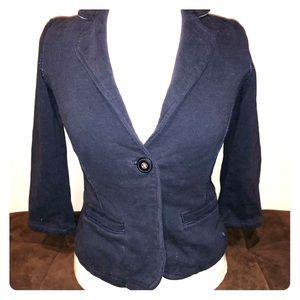 Jersey knit single button jacket